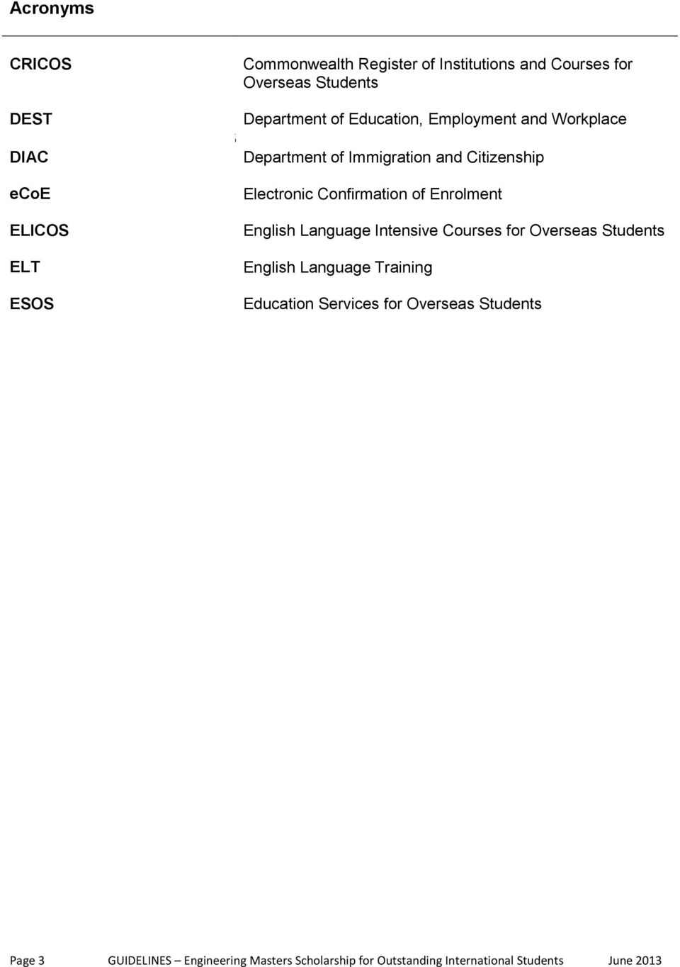 Confirmation of Enrolment English Language Intensive Courses for Overseas Students English Language Training Education
