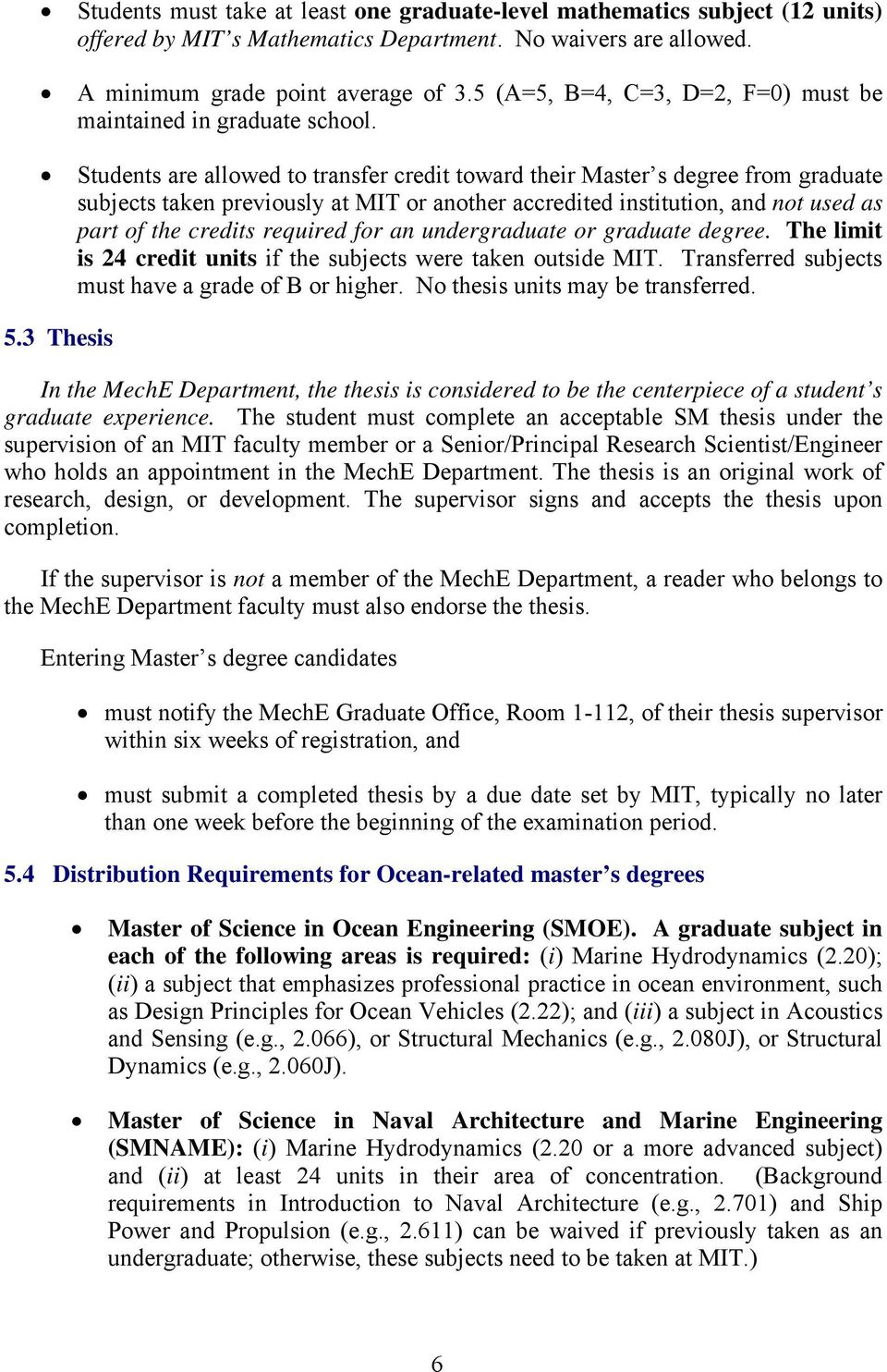 Guide to Graduate Study in Mechanical Engineering at MIT - PDF