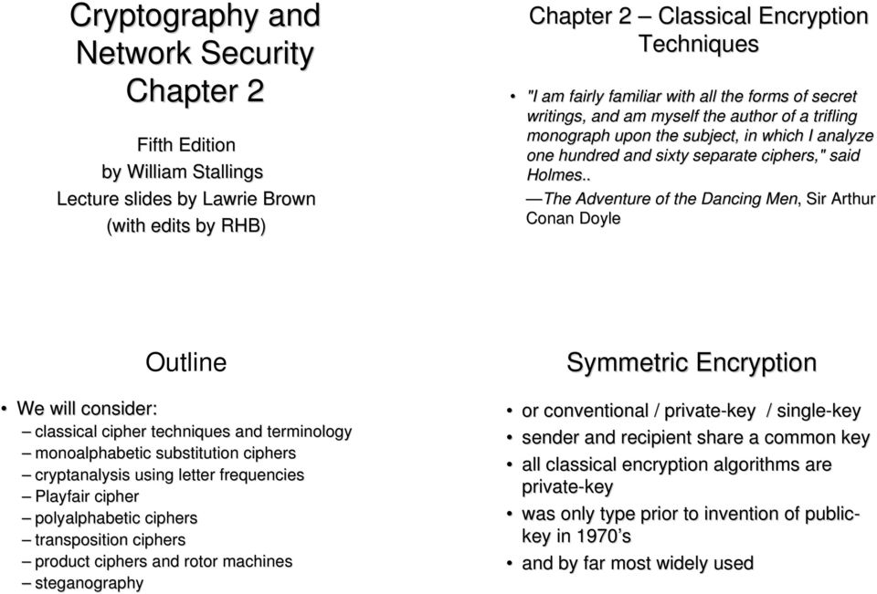 Cryptography And Network Security Chapter 2 PDF