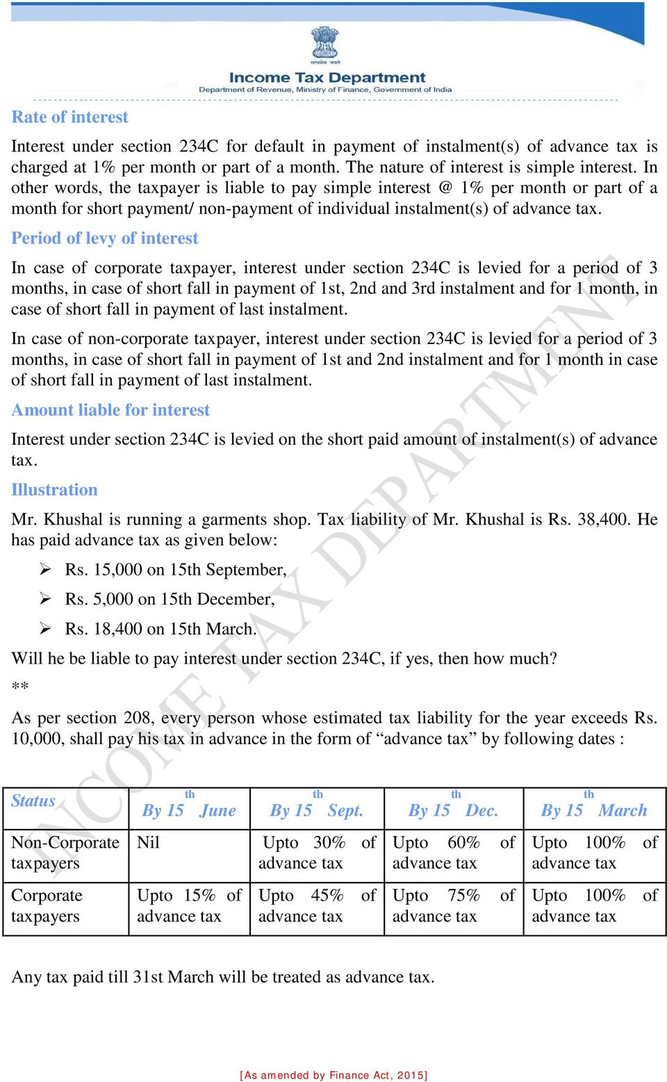Sec 234b income tax act