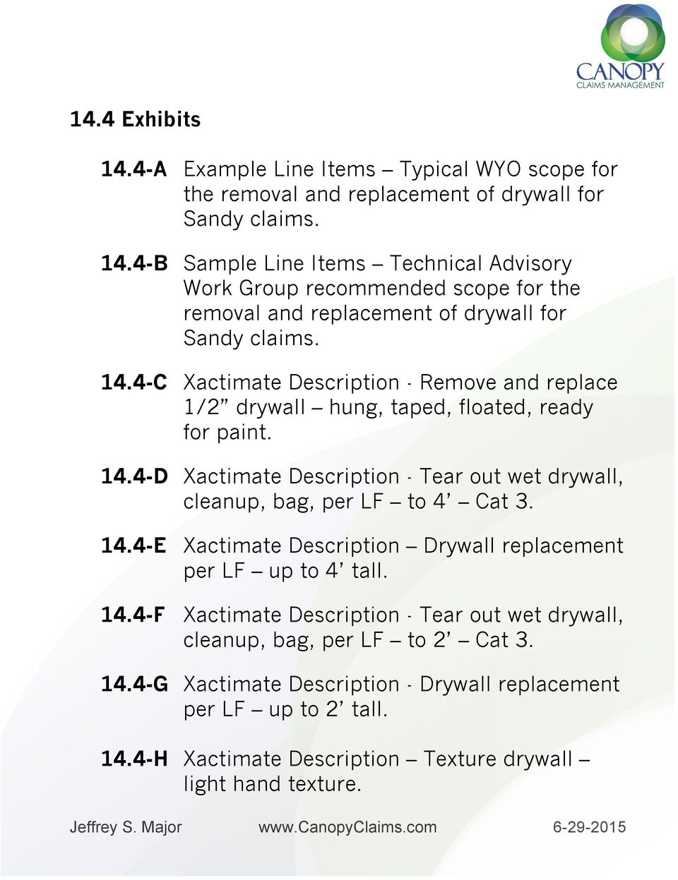 Xactimate Water Damage Price List