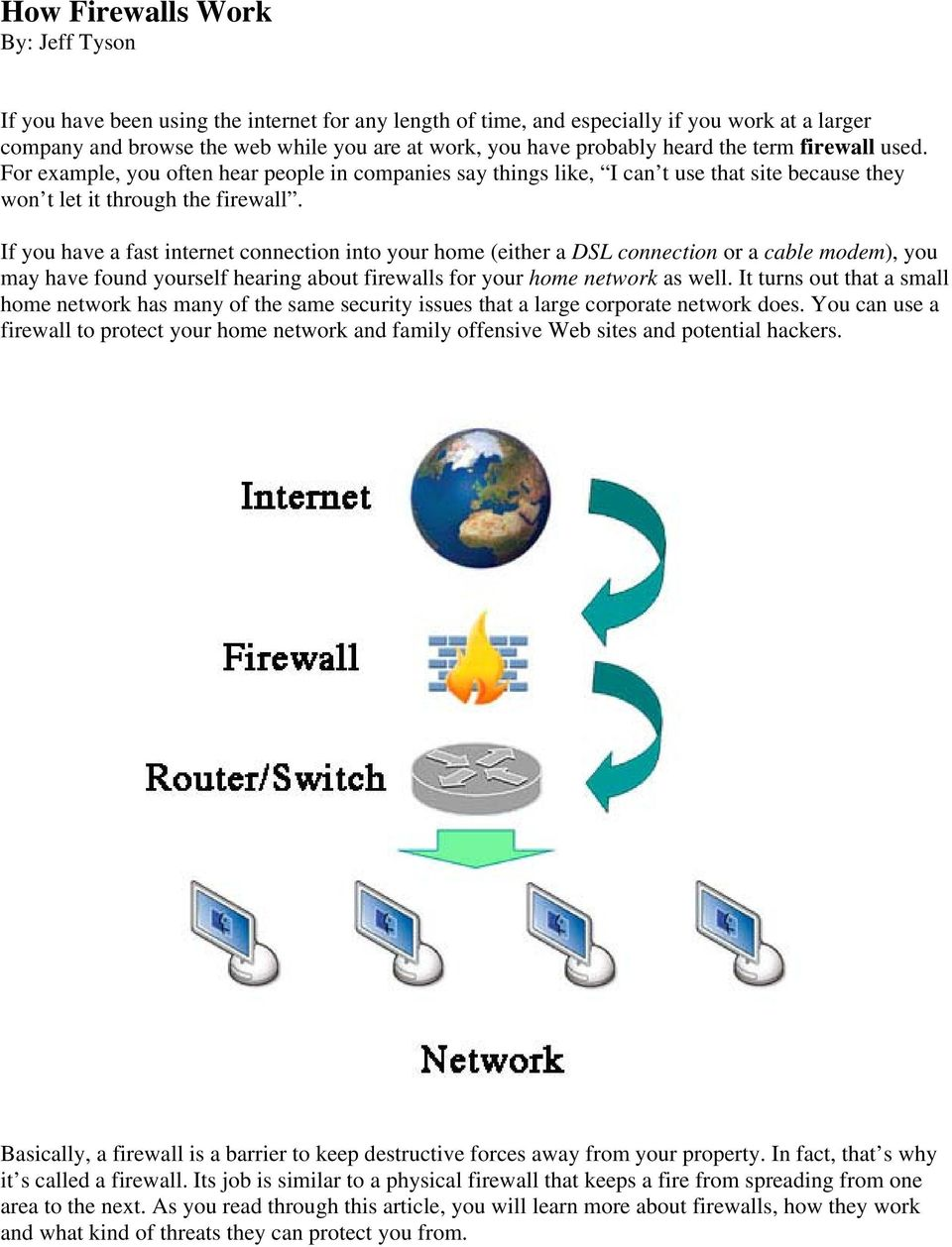 If you have a fast internet connection into your home (either a DSL connection or a cable modem), you may have found yourself hearing about firewalls for your home network as well.