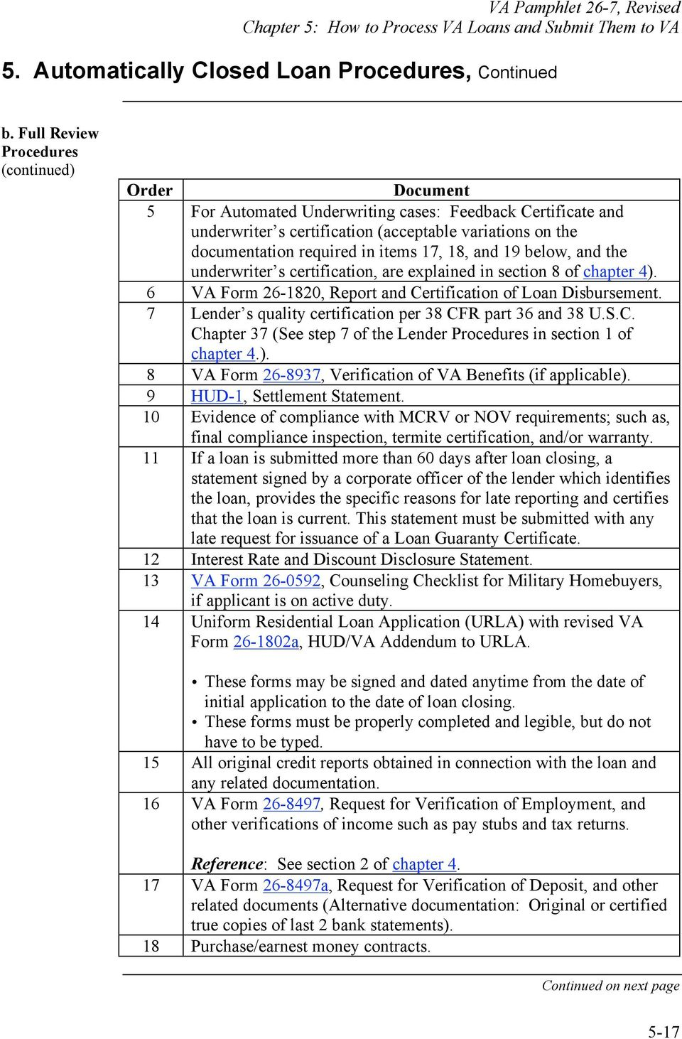 Chapter 5 How To Process Va Loans And Submit Them To Va Overview Pdf