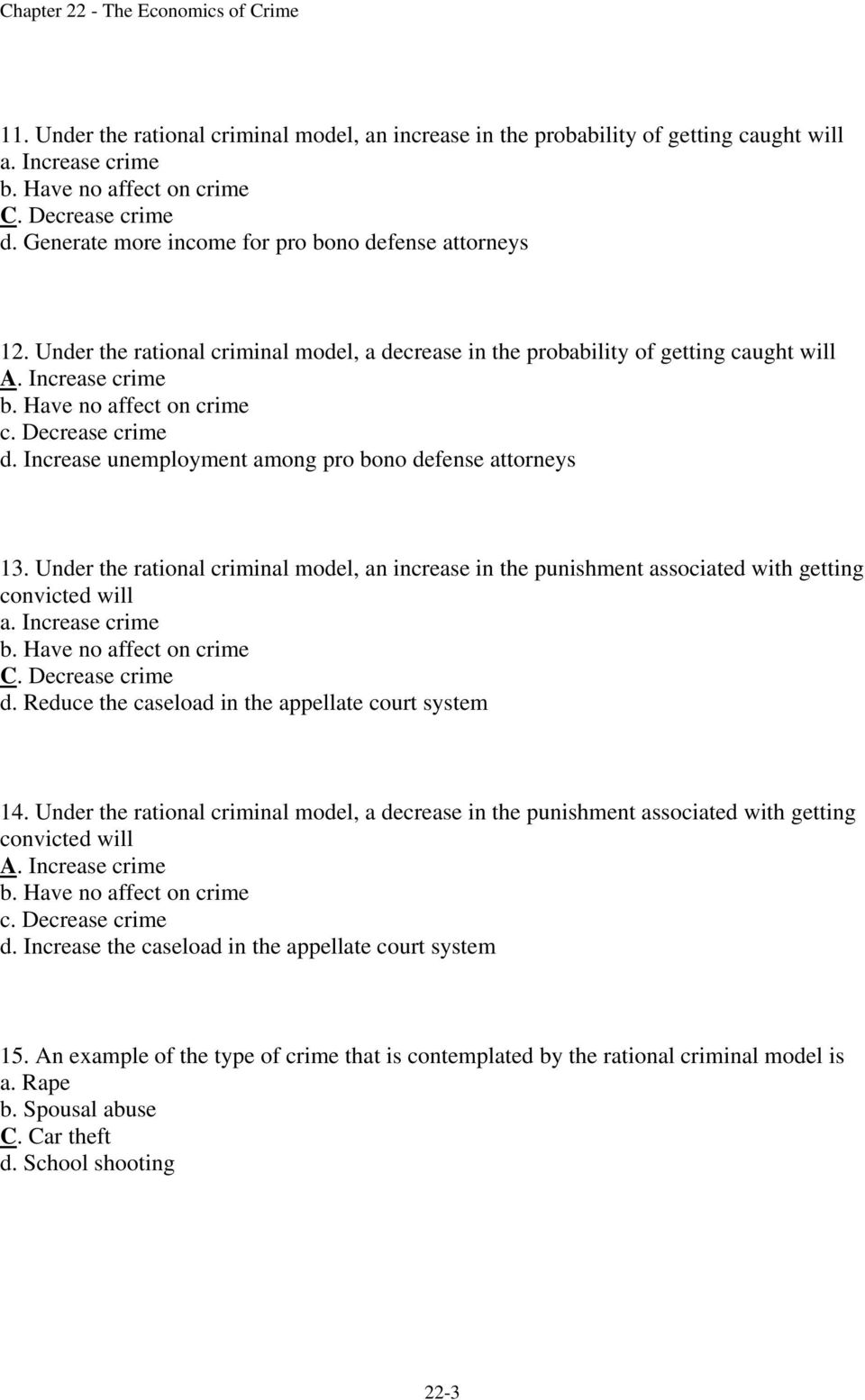 Chapter 22 The Economics of Crime - PDF