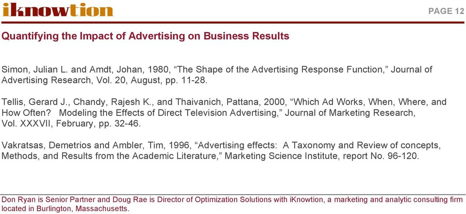 impact of advertising on business