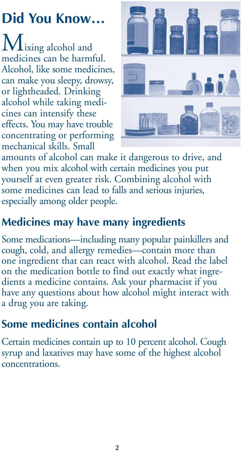 Harmful Interactions: Mixing Alcohol with Medicines - PDF