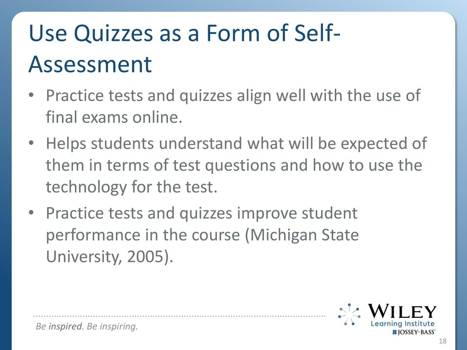 ASSESSING THE ONLINE LEARNER  Rena Palloff and Keith Pratt - PDF