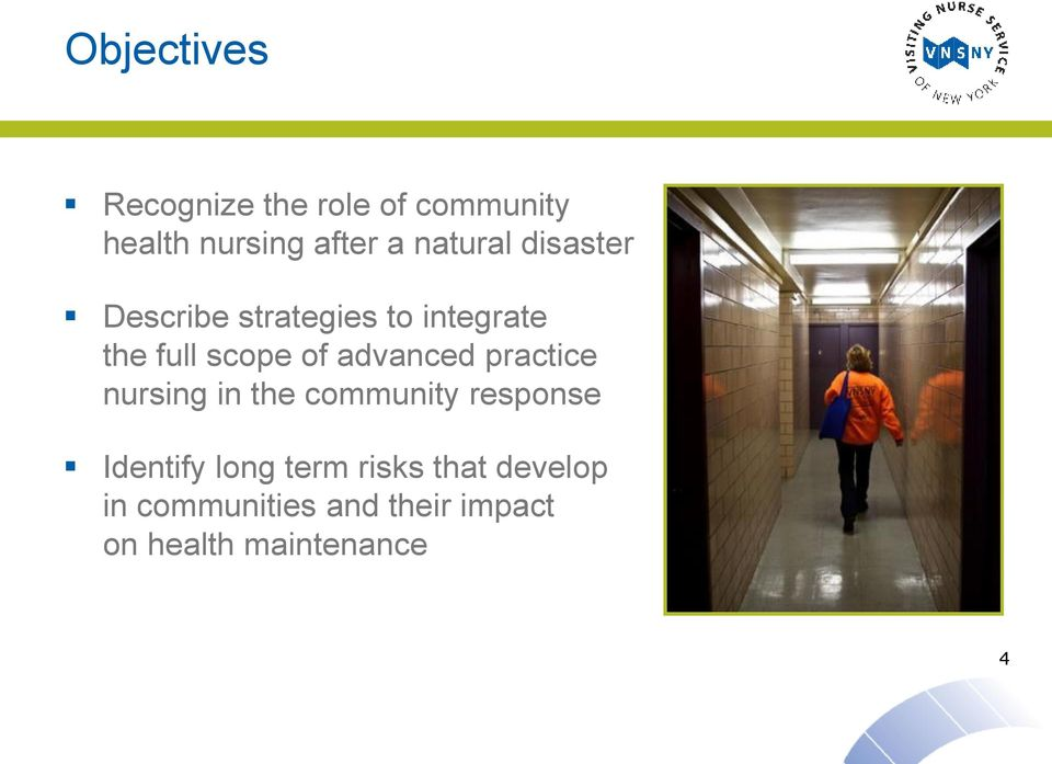 advanced practice nursing in the community response Identify long term