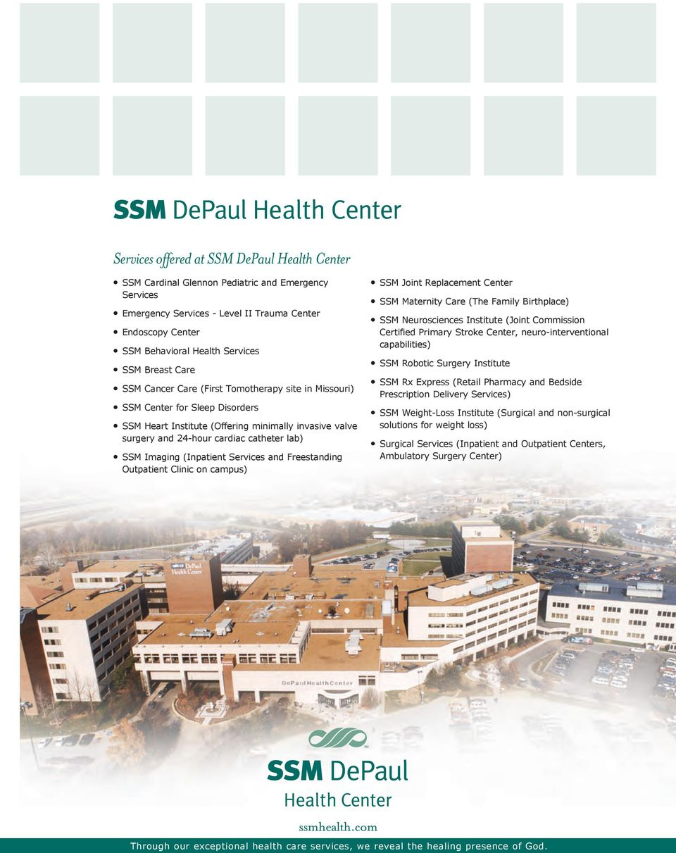ExCEPTiOnAL HEALTH CArE  ssmhealth com  SSM Neurosciences