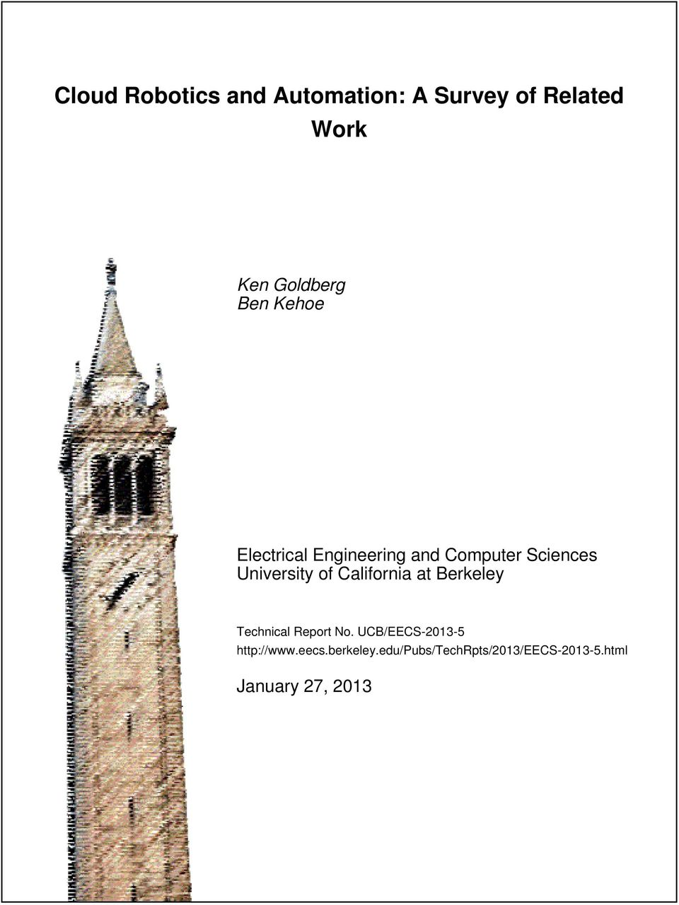 California at Berkeley Technical Report No.