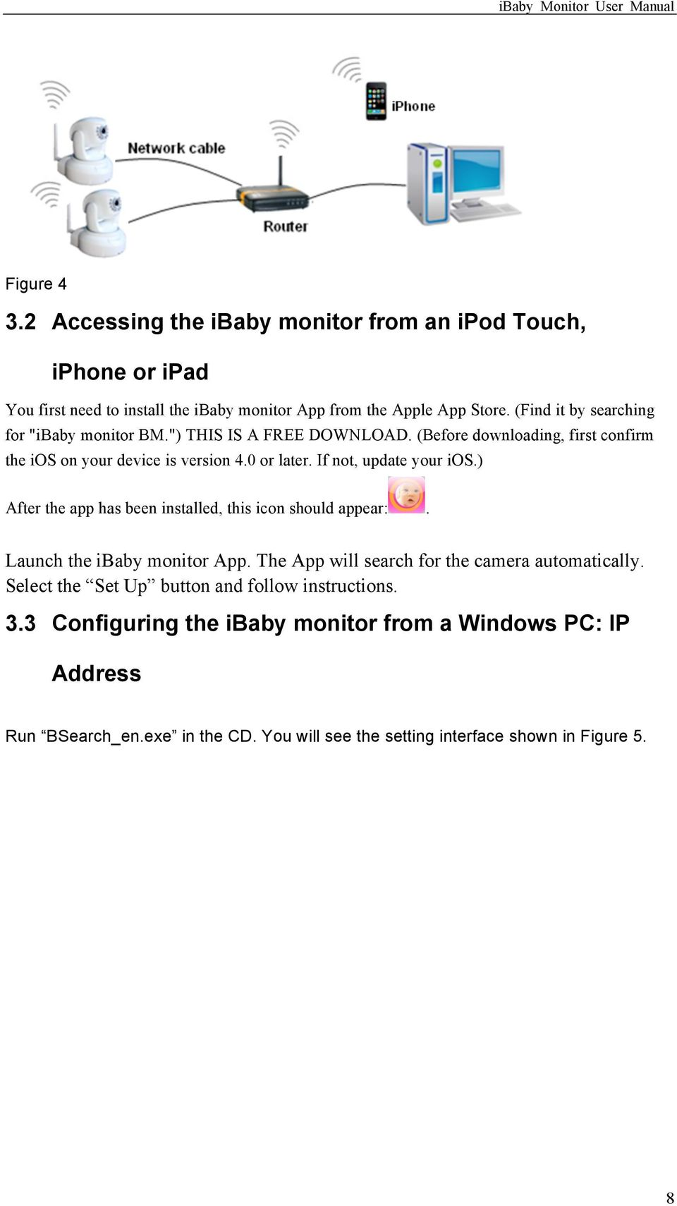 Ibaby Monitor Model M3 User Manual The Manufacturer Is Not Download Image 100 Amp Sub Panel Wiring Diagram Pc Android Iphone If Update Your Ios After App Has Been Installed This