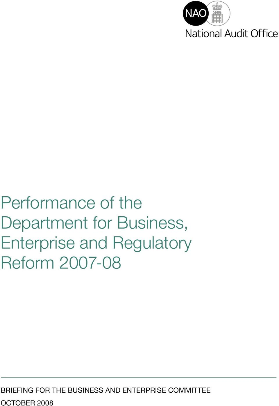 Reform 2007-08 briefing for the