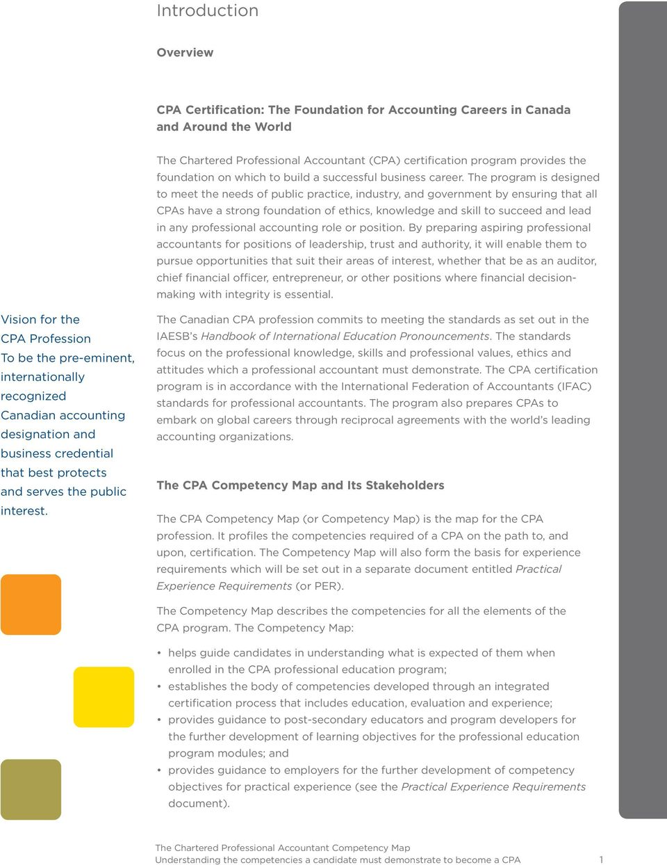 The Chartered Professional Accountant Competency Map Understanding