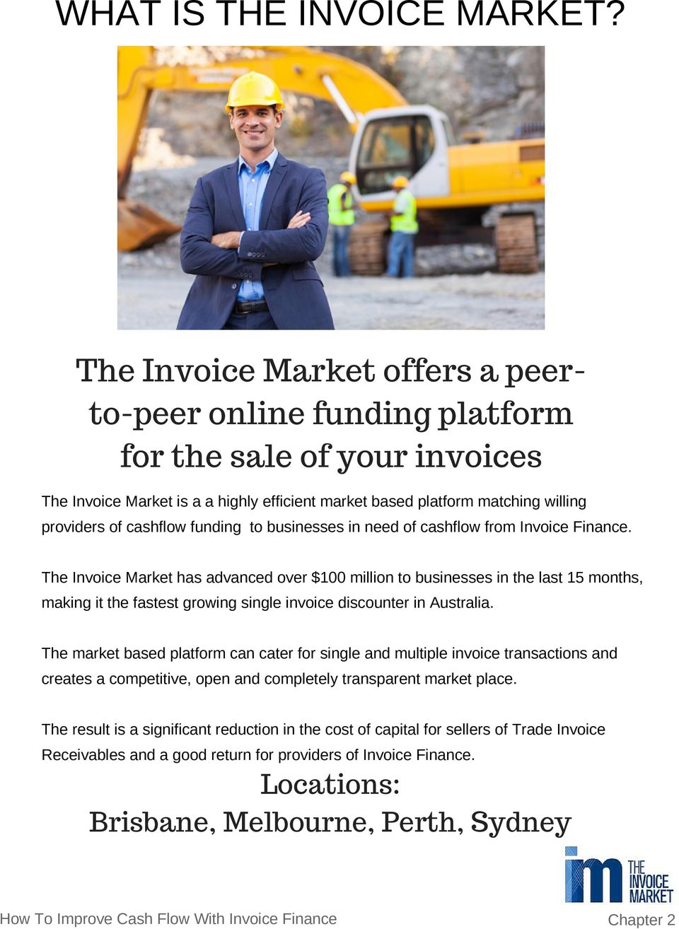 funding to businesses in need of cashflow from Invoice Finance.