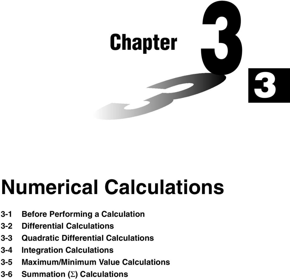 Chapter  Numerical Calculations - PDF
