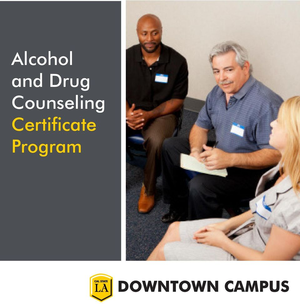 Alcohol And Drug Counseling Certificate Program Pdf