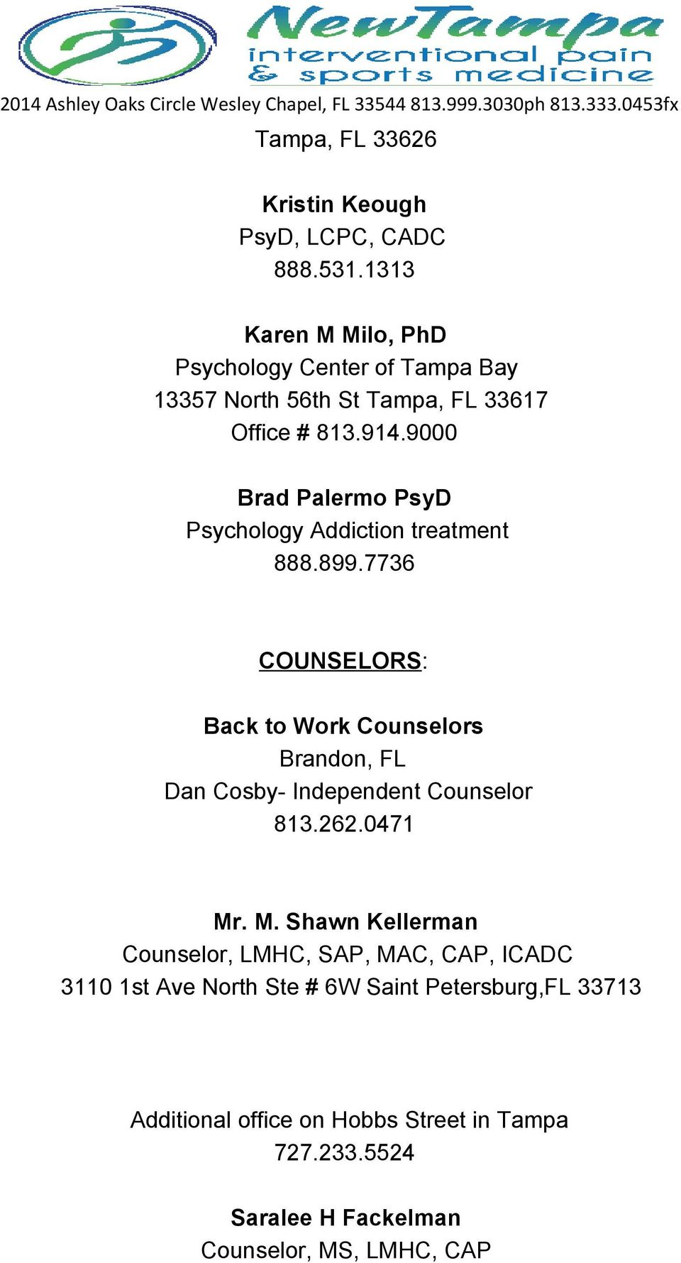 9000 Brad Palermo PsyD Psychology Addiction treatment 888.899.