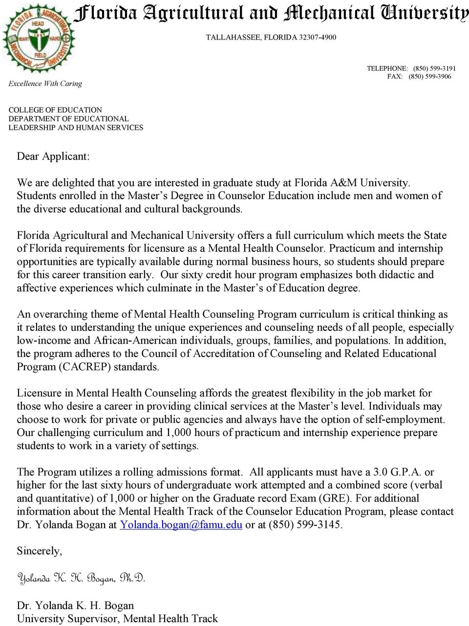 Florida Agricultural And Mechanical University Pdf