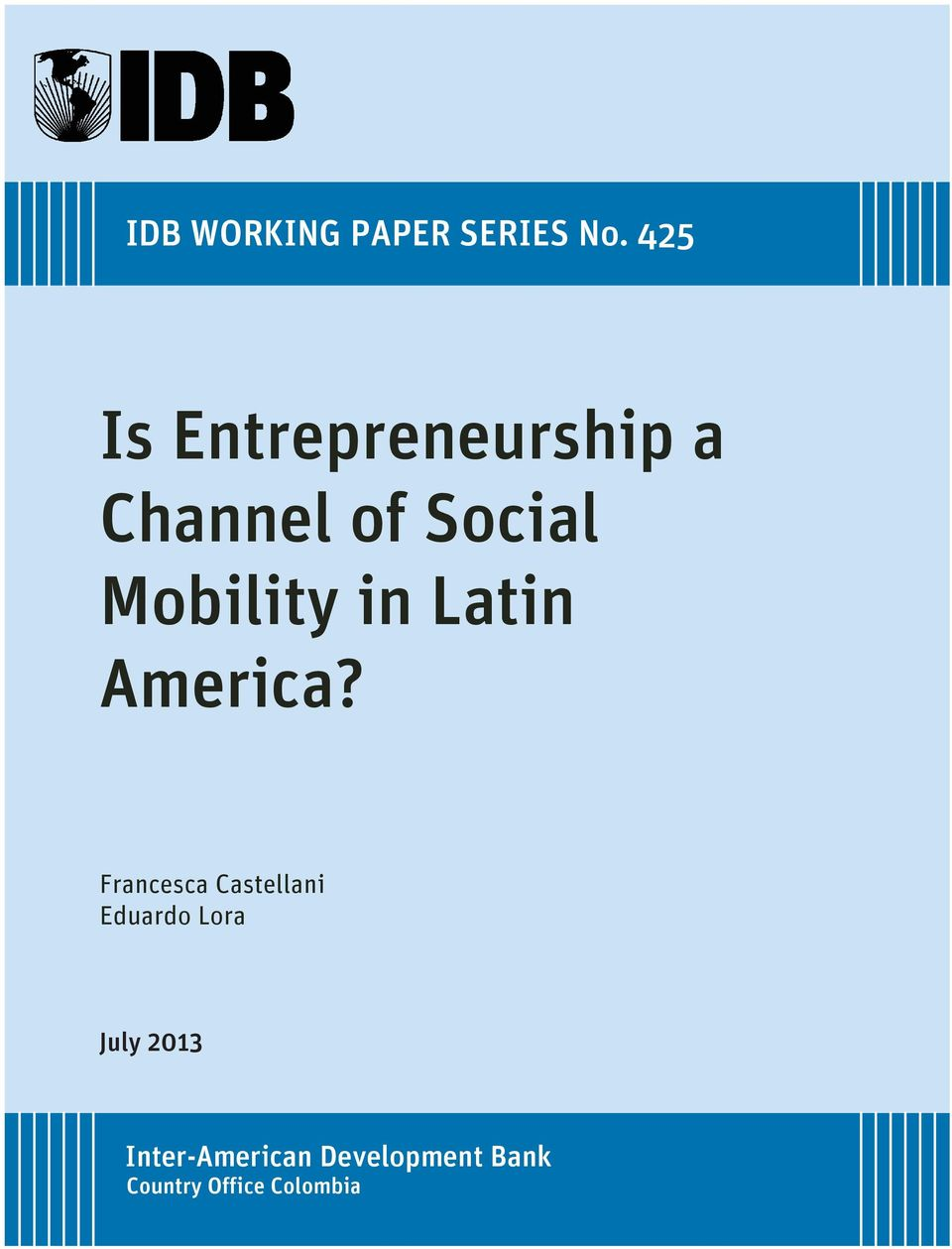 Mobility in Latin America?
