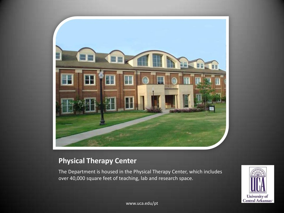 University of Central Arkansas Physical Therapy. - PDF on