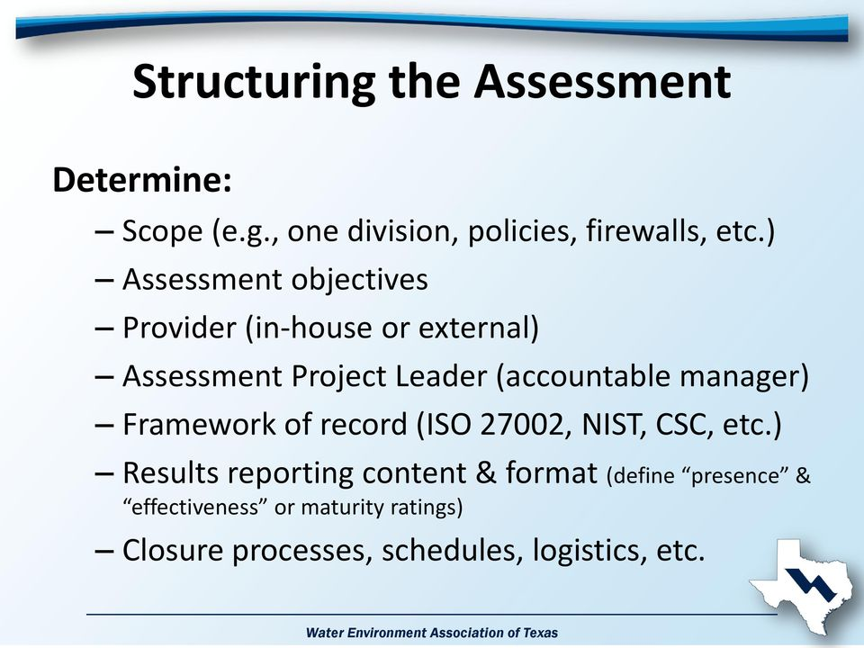 manager) Framework of record (ISO 27002, NIST, CSC, etc.