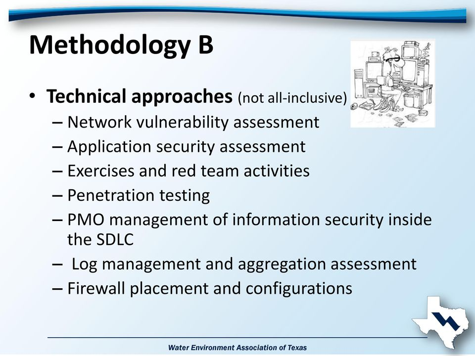 Penetration testing PMO management of information security inside the SDLC