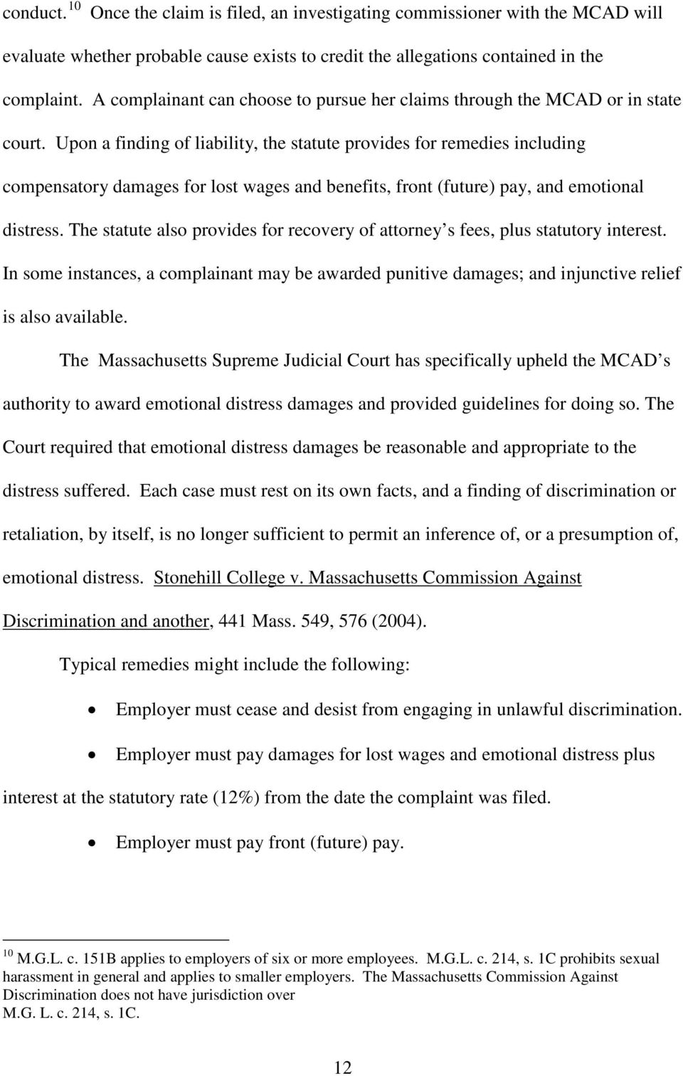 Compensatory damages for sexual harassment