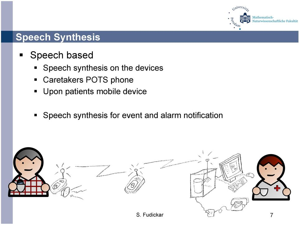 phone Upon patients mobile device Speech