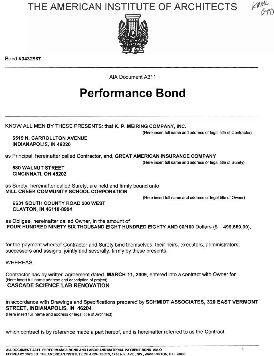 Aia Document A31 1 Performance Bond Pdf Free Download