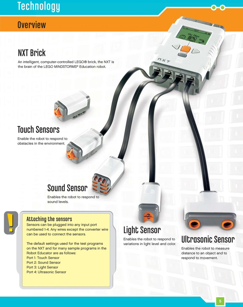 Electronic Ear For Lego Rcx Module Introduction Welcome To Mindstorms Education Pdf Attaching The Sensors Can Be Plugged Into Any Input Port Numbered 1 4
