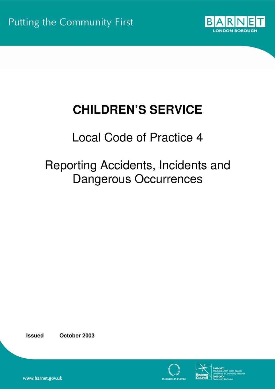Accidents, Incidents and