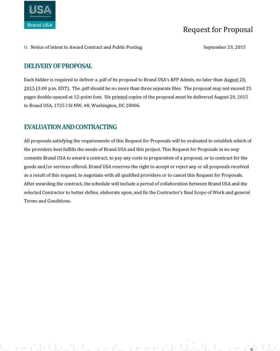 REQUEST FOR PROPOSAL MARKETING, COMMUNICATIONS & DESIGN