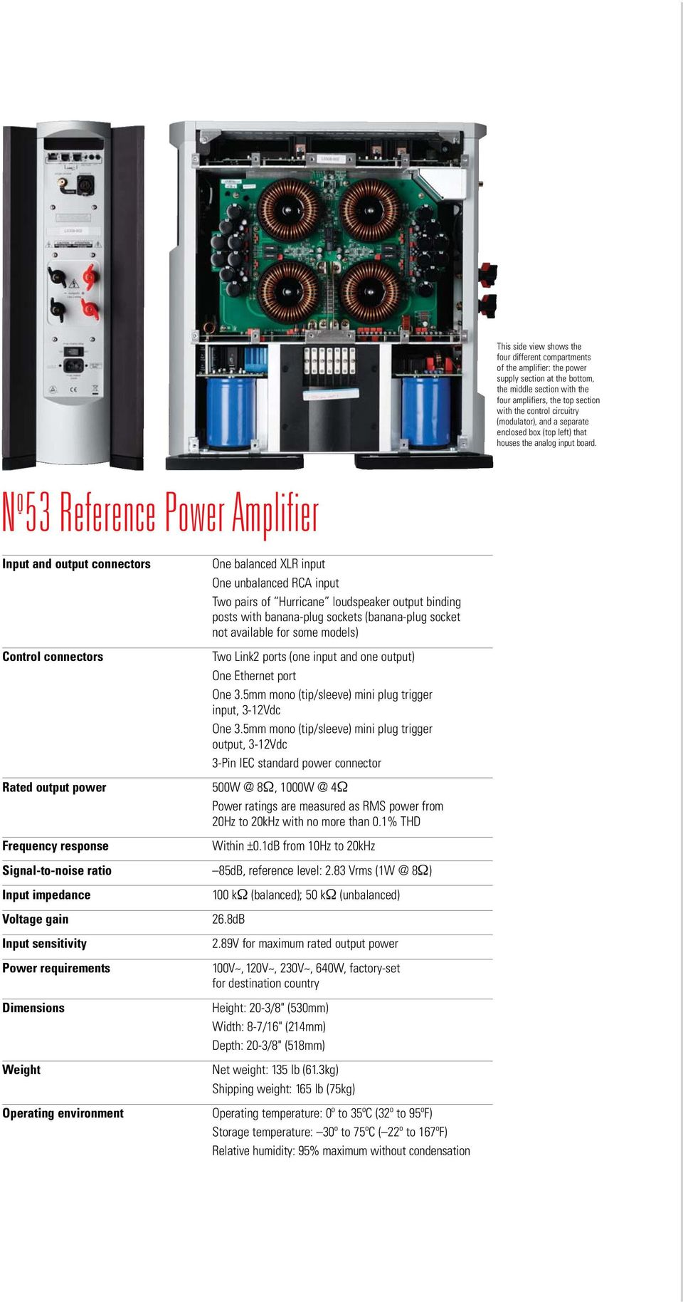 N o 53 REFERENCE POWER AMPLIFIER - PDF