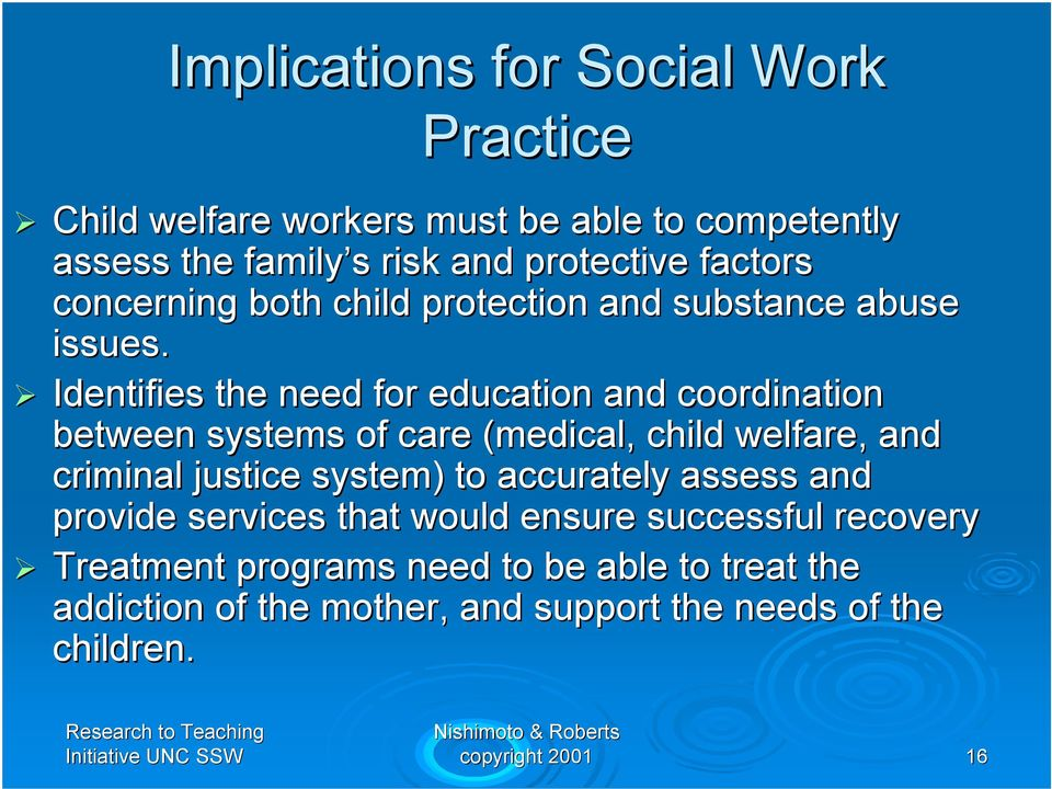 Identifies the need for education and coordination between systems of care (medical, child welfare, and criminal justice system) to