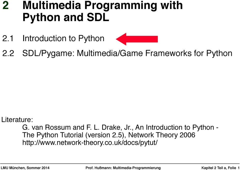 2! Multimedia Programming with! Python and SDL - PDF