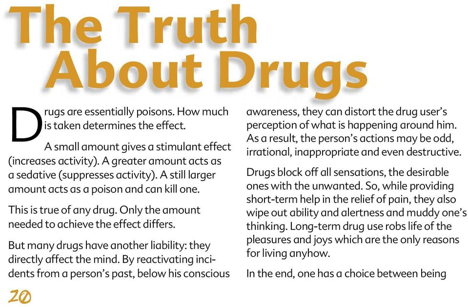 SAY NO TO DRUGS, SAY YES TO LIFE - PDF
