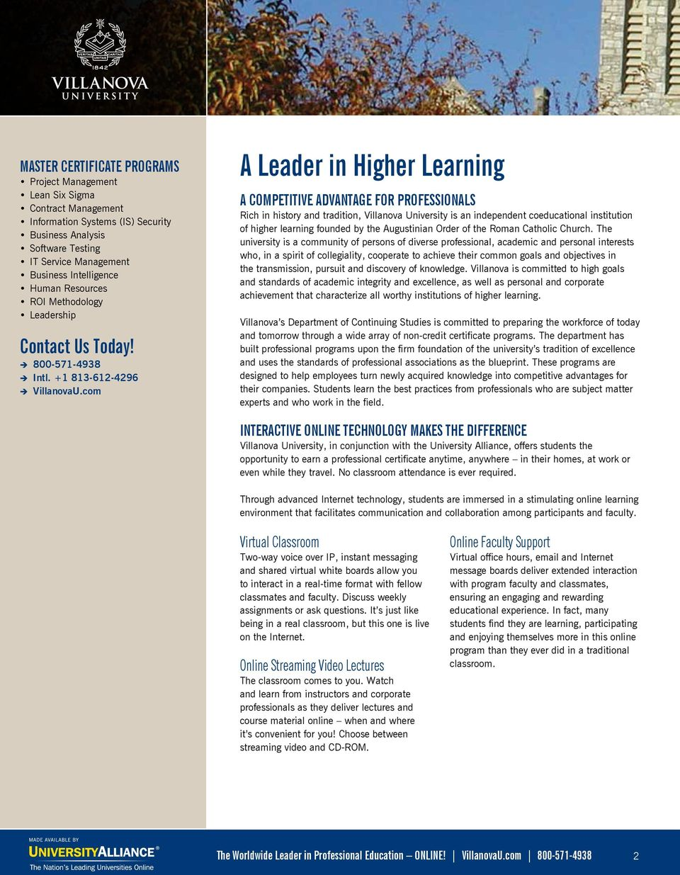 The Nation S Leading Universities Online Professional Education