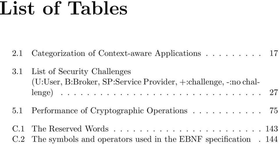 challenge)............................... 27 5.1 Performance of Cryptographic Operations........... 75 C.