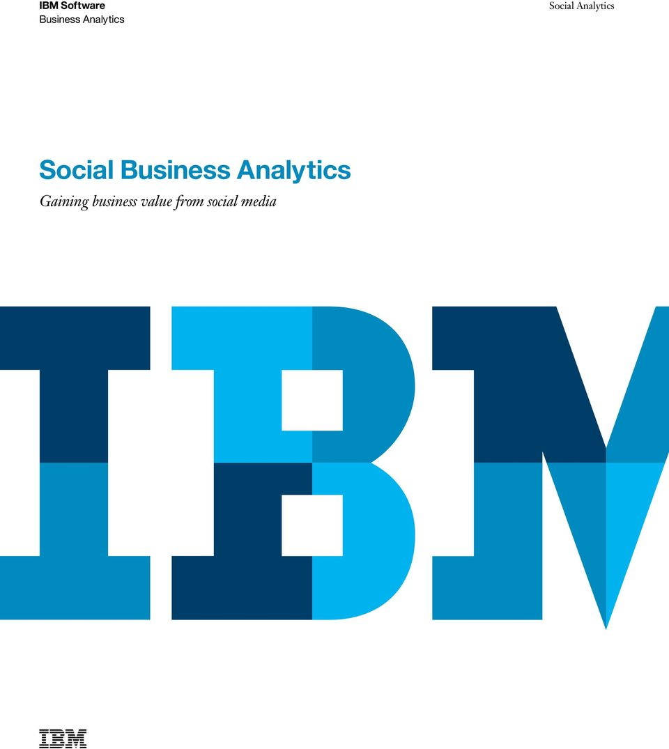 Social Business Analytics