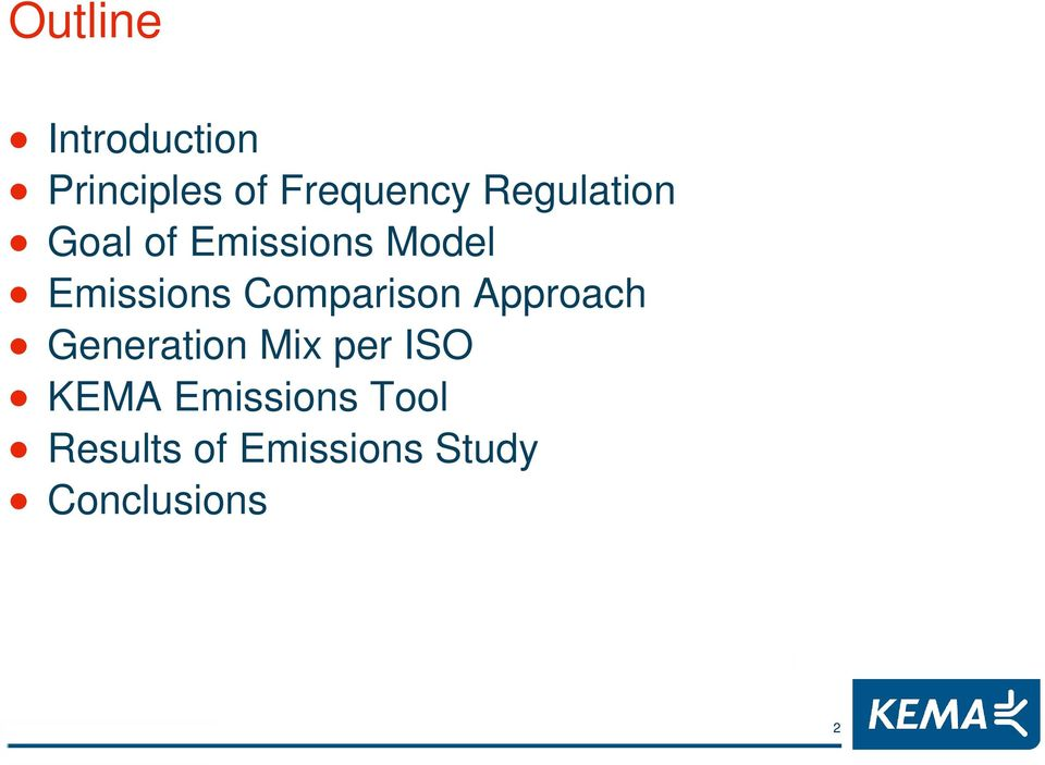 Comparison Approach Generation Mix per ISO KEMA