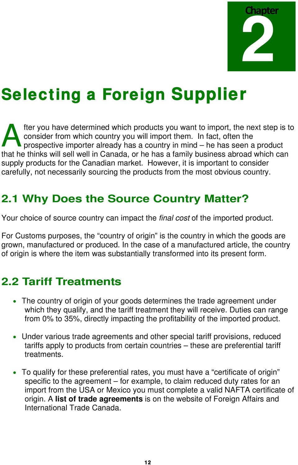 A STEP BY STEP GUIDE TO IMPORTING  A Guide for Canadian