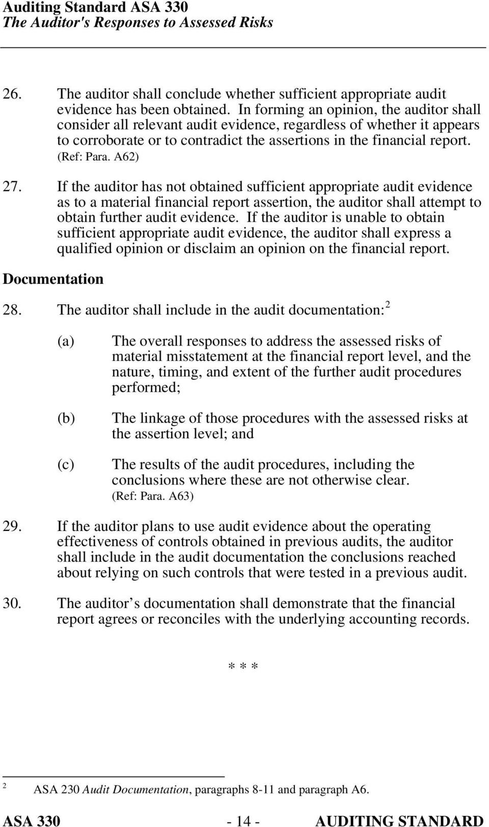 A62) 27. If the auditor has not obtained sufficient appropriate audit evidence as to a material financial report assertion, the auditor shall attempt to obtain further audit evidence.