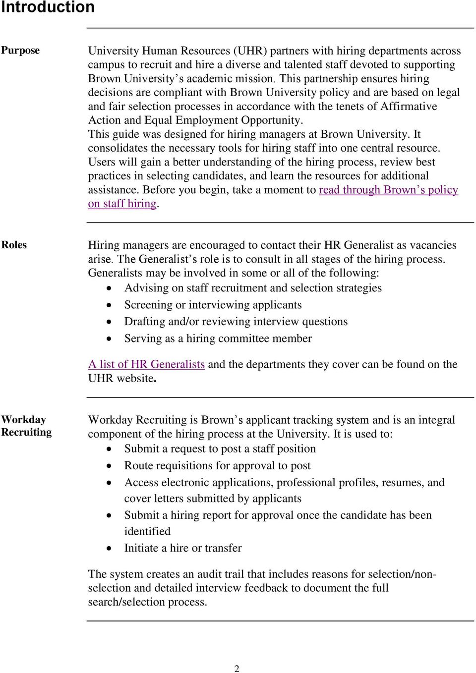 Hiring Brown  A Guide to the Staff Hiring Process and Best Practices
