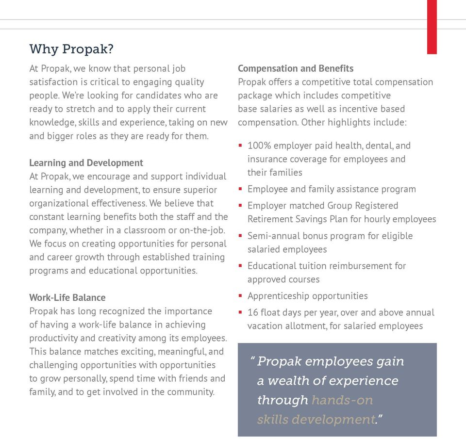 Build Your Career at Propak - PDF