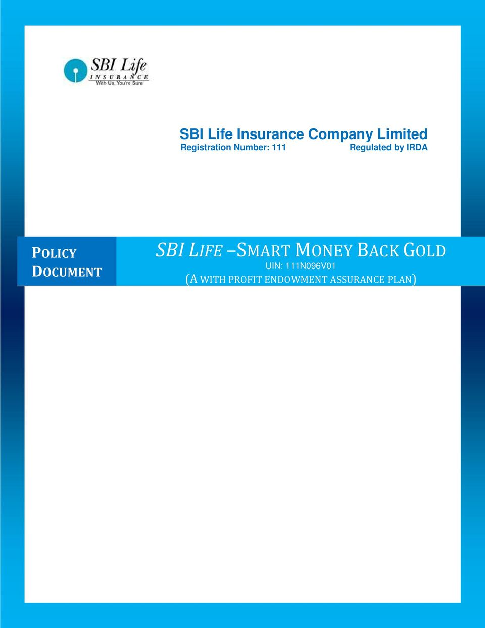 proIsrael: Smart Money Back Policy Sbi