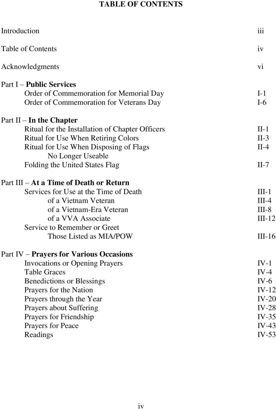 VVA BOOK OF PRAYERS AND SERVICES - PDF