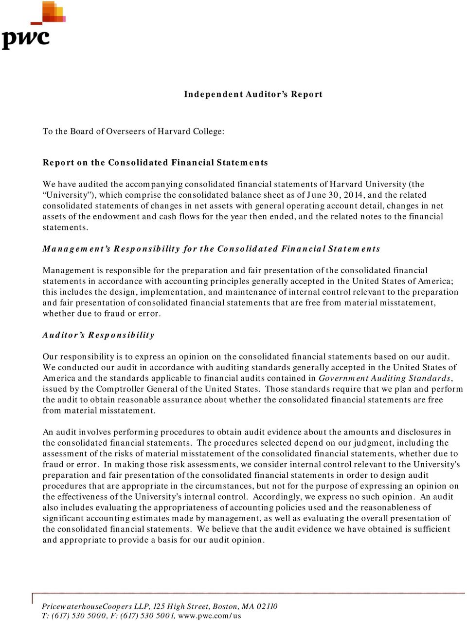 account detail, changes in net assets of the endowment and cash flows for the year then ended, and the related notes to the financial statements.