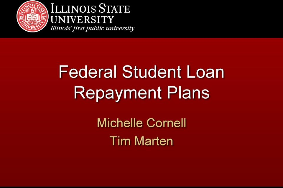 Federal Student Loan Repayment Plans Financial Aid Office Pdf