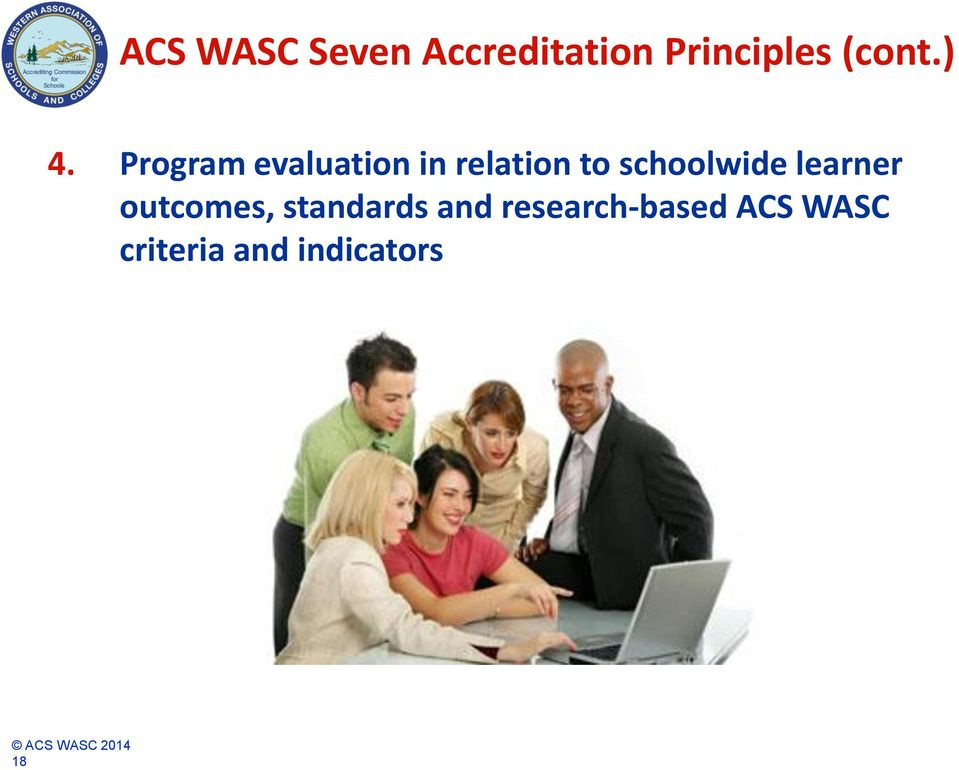 Program evaluation in relation to schoolwide