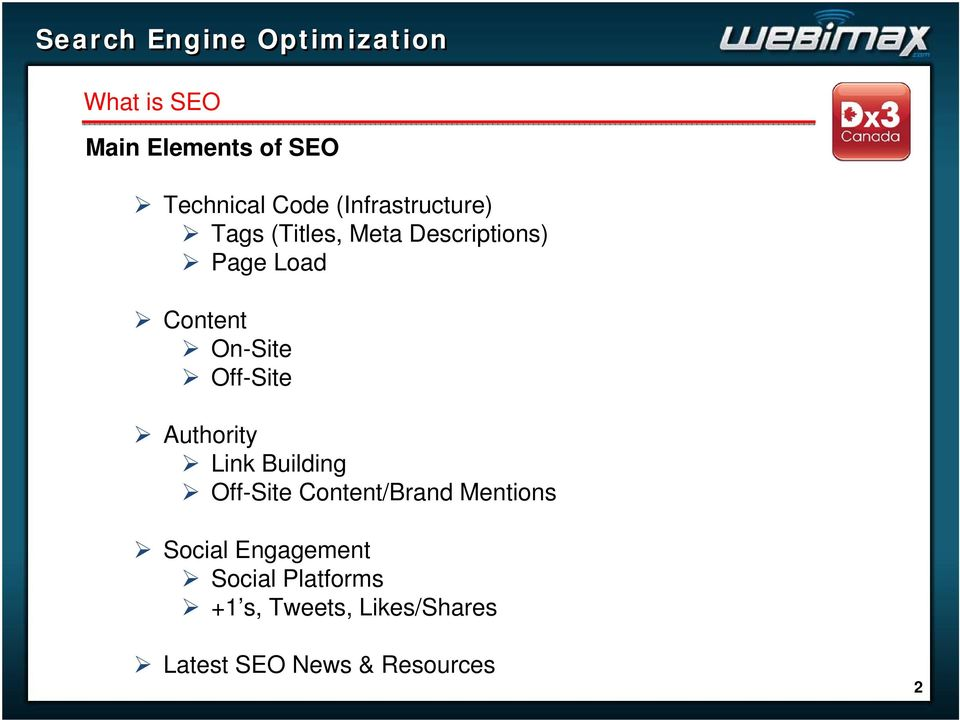 Authority Link Building Off-Site Content/Brand Mentions Social